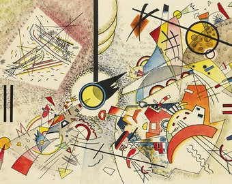 ORIGINAL design, durable and WASHABLE PLACEMAT - Wassily Kandinsky - without title - classic.