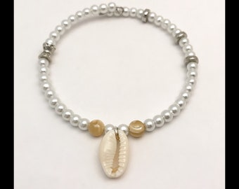 "Men's ""Cowrie"" mother of pearl bracelet"