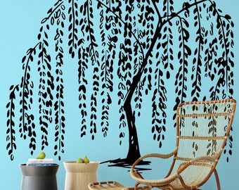 Willow Tree Wall Decal Sticker | Nature Decals | Relaxing and freshening decor for your home | ZEN Serenity Peaceful Beautiful Calming