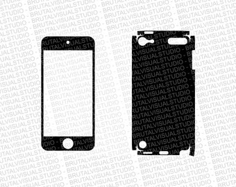 iPod Touch 5 Skin template for cutting or machining - Digital Download | Plotters, CNCs, Laser cutters, Silhouette Cameo, Cricut | 11 Files