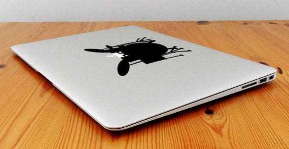 Drum Player Decal Sticker for Macbooks and other Laptops, Decals stickers for macbooks in vinyl, Drummer Music Artist Drums Trap, mac