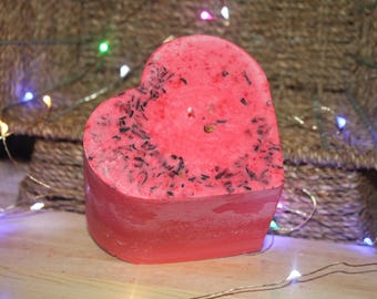 Two Toned Pink Rose Petal Heart