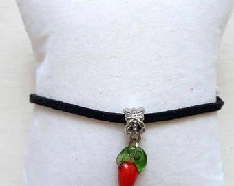 Basque velvet 1 pepper glass bracelet