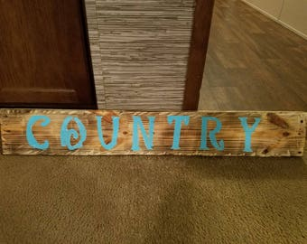 Charred Country sign