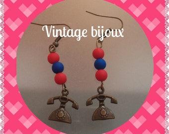 Very retro brass earrings