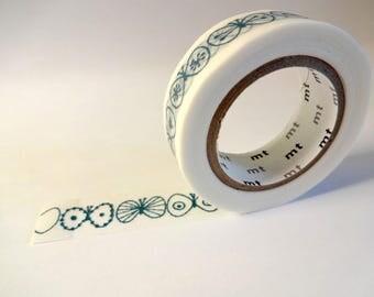 Washi tape blue butterflies - masking tape - Scrapbook - embellishment