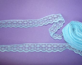 10 meter of lace blue 2 cm wide