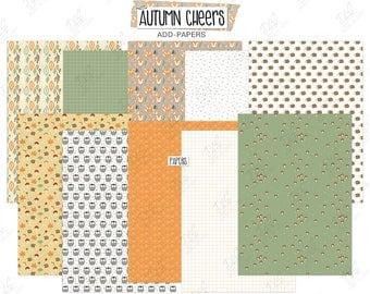 """Scrapbook Paper: """"Autumn Cheers"""""""