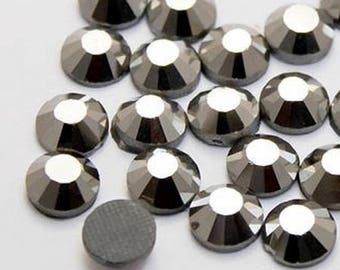 Rhinestone hematite 5mm - Pack of 10 rhinestone seconds