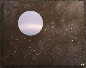 8x10 Custom Planet Outer Space Canvas Painting