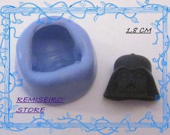 Star wars Darth Vader 18 mm handmade silicone mold
