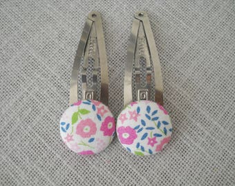 Hair clip - Clack liberty fairford pink, the pair