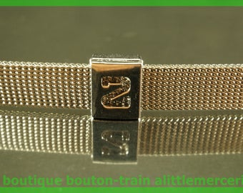 bead width figure 2 perforated aluminum number number for bracelet