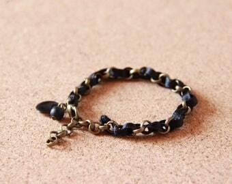Bracelet • JADE • bronze / black