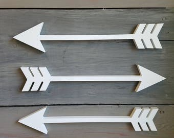 Arrow Wall Decor, Arrow Wall Art, Wooden Arrow Sign, Horizontal Arrow, Arrow Cutouts, Home Decor, Gallery Wall Housewarming, Nursery Arrows