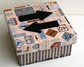"""Secret """"Direction"""" wooden box"""