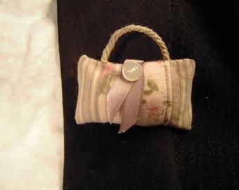 Pin striped fabric bag