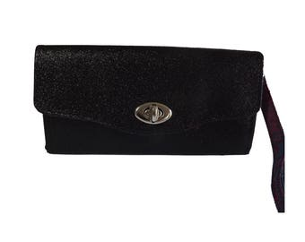 The Necessary Clutch Wallet - Black Glitter Party Bag