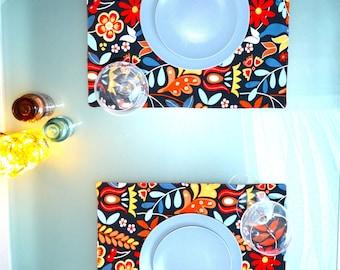 Boho-chic placemats set