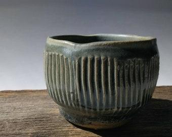 Unique Pottery Tea Bowl | Handmade Ceramic Bowl, Small Pottery Bowl, Rustic Pottery bowl, sake cup, whiskey cup, espresso cup.