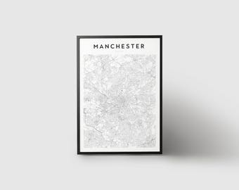 Manchester Map Print