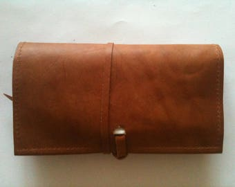 tobacco pouch leather camelle