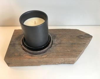 Rustic Large Candle Holder Recycled Timber