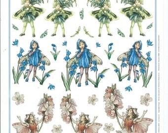paper cut card 3D flower Fairies 1