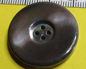 Vintage button Brown, Pearl, 2.6 cm - #5812_26