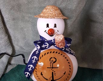 Anchor Snowman Gourd Light