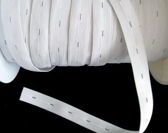 1 M - elastic cord adjustable color white