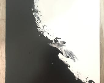 "16""x16"" acrylic painting with varnish"