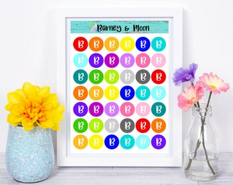 Personalised Letter Stickers
