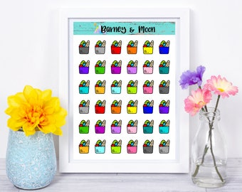 Grocery Bag Icons | Planner Stickers