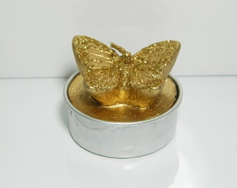 Golden Butterfly candle