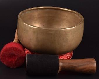 "Tibetan Handmade THADO Chakra  Healing Buddhist Yoga Meditation Singing Bowl ""C"" Crown chakra Tibetan Singing Bowl"