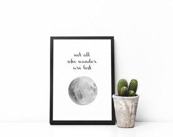 Moon Wander | Digital Print | Digital illustration | Printed illustration | Wall decor | Printed wall decoration