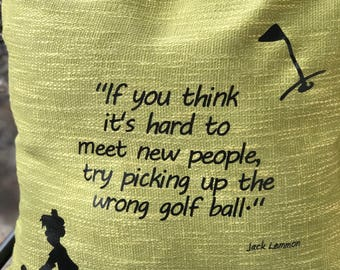 Golf Pillow Cover, Golfer Gift, Golf Humor, Golf Quote, Golf Decor