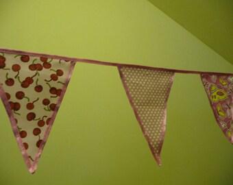 Banner decoration 15 little triangular flags. Triangular 15 flags Garland for child