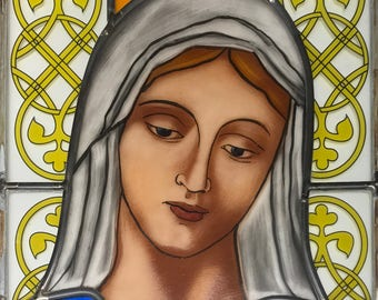 Virgin Mary | Stained Glass | Handmade