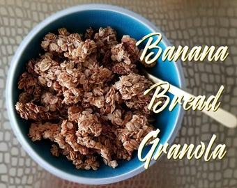 Banana Bread Granola/Vegan/Made to Order/100% Natural/Walnuts/Coconut/Snack