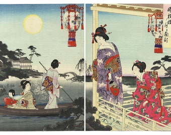 Japanese Art prints in Diptychs