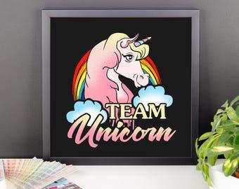 Team Unicorn Framed Poster