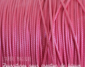 pink color polyester cord 1 mm diameter long 2 meters