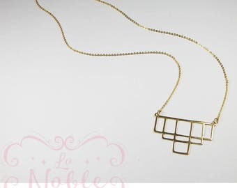 Gold plated necklaces handmade