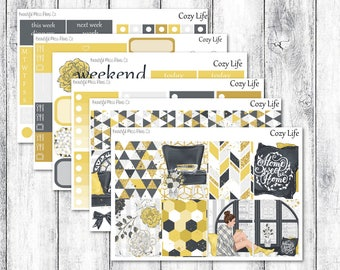 Cozy Life // Weekly Sticker Kit // Erin Condren Vertical