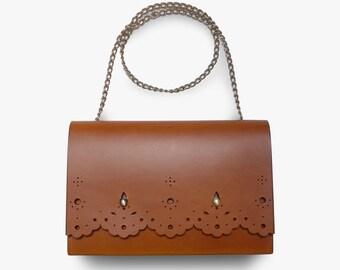 Doily bag (Leather Bag, Shoulder Bag, Natural Leather Bag, Genuine Leather Shoulder Bag, Minimalist Bag)