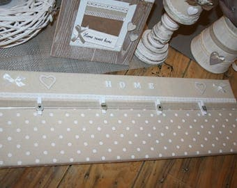 Pele mele photo taupe and white polka dots and hearts home