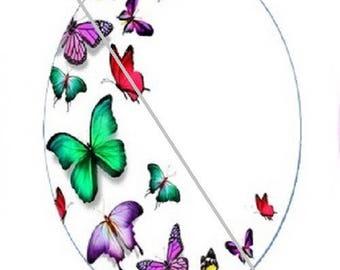 18x25mm semi-circle butterflies