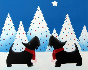 Scottie dog Christmas Cards (6 pack) Scottish Terrier